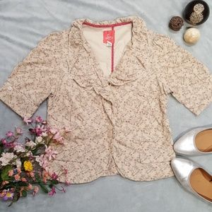 Lux by Urban Outfitters Beige Floral Jacket M
